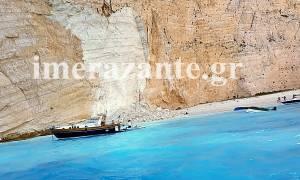 Τρόμος στη Ζάκυνθο: Πτώση βράχου στην παραλία του ναυαγίου - Τρεις τραυματίες