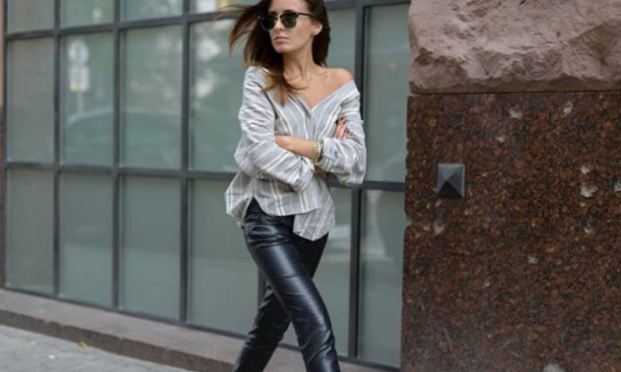 Black leather pants: Η επιστροφή του κλασσικού παντελονιού και πώς να το φορέσεις