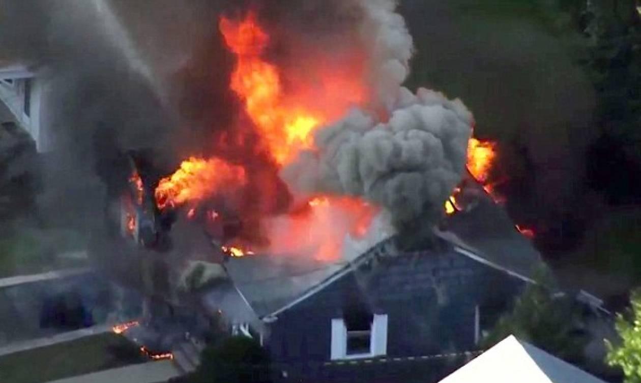 Τρόμος στη Βοστώνη: Δεκάδες σπίτια στις φλόγες μετά από εκρήξεις σε γραμμές φυσικού αερίου
