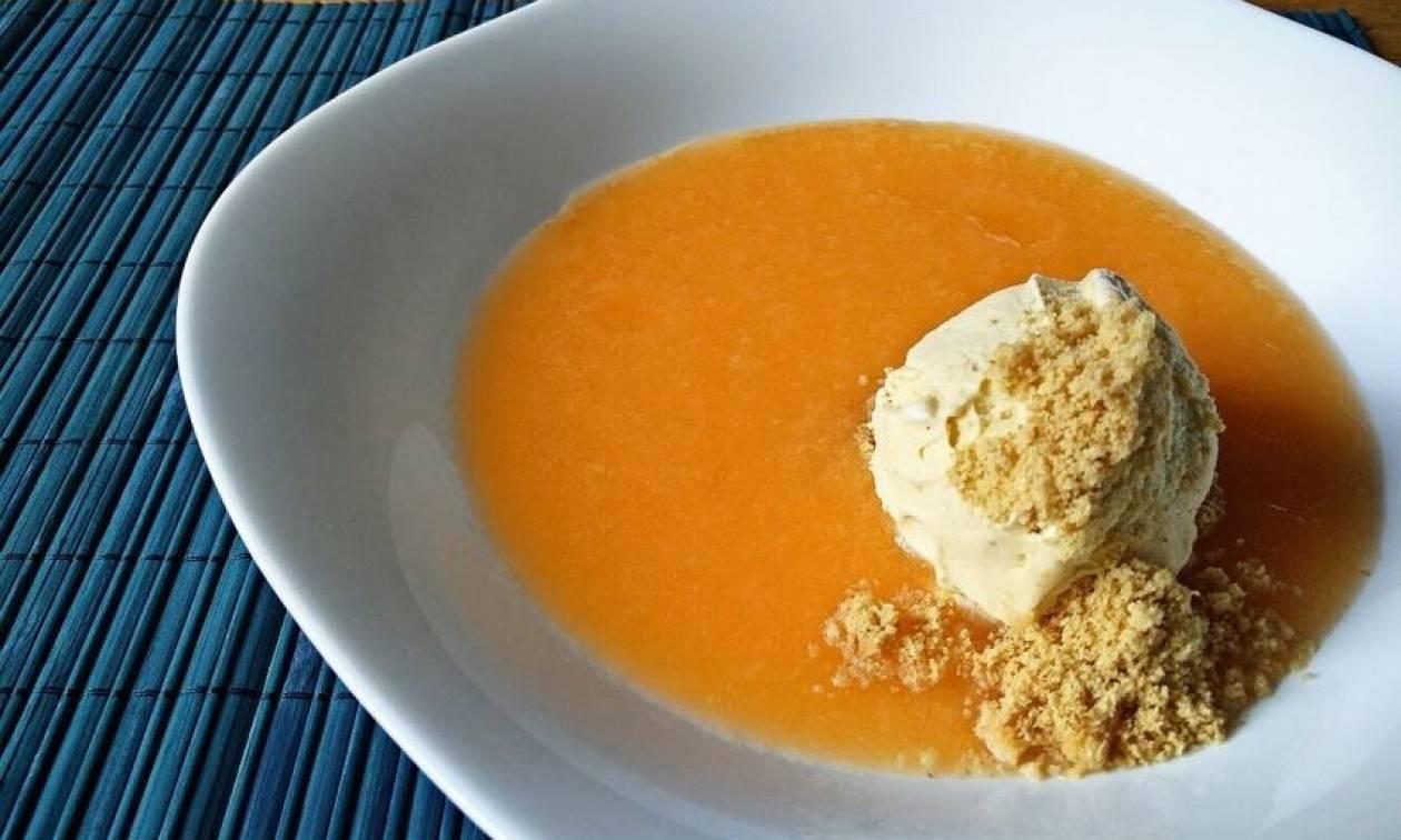 Η συνταγή της ημέρας: Σούπα πεπονιού με παγωτό βανίλια
