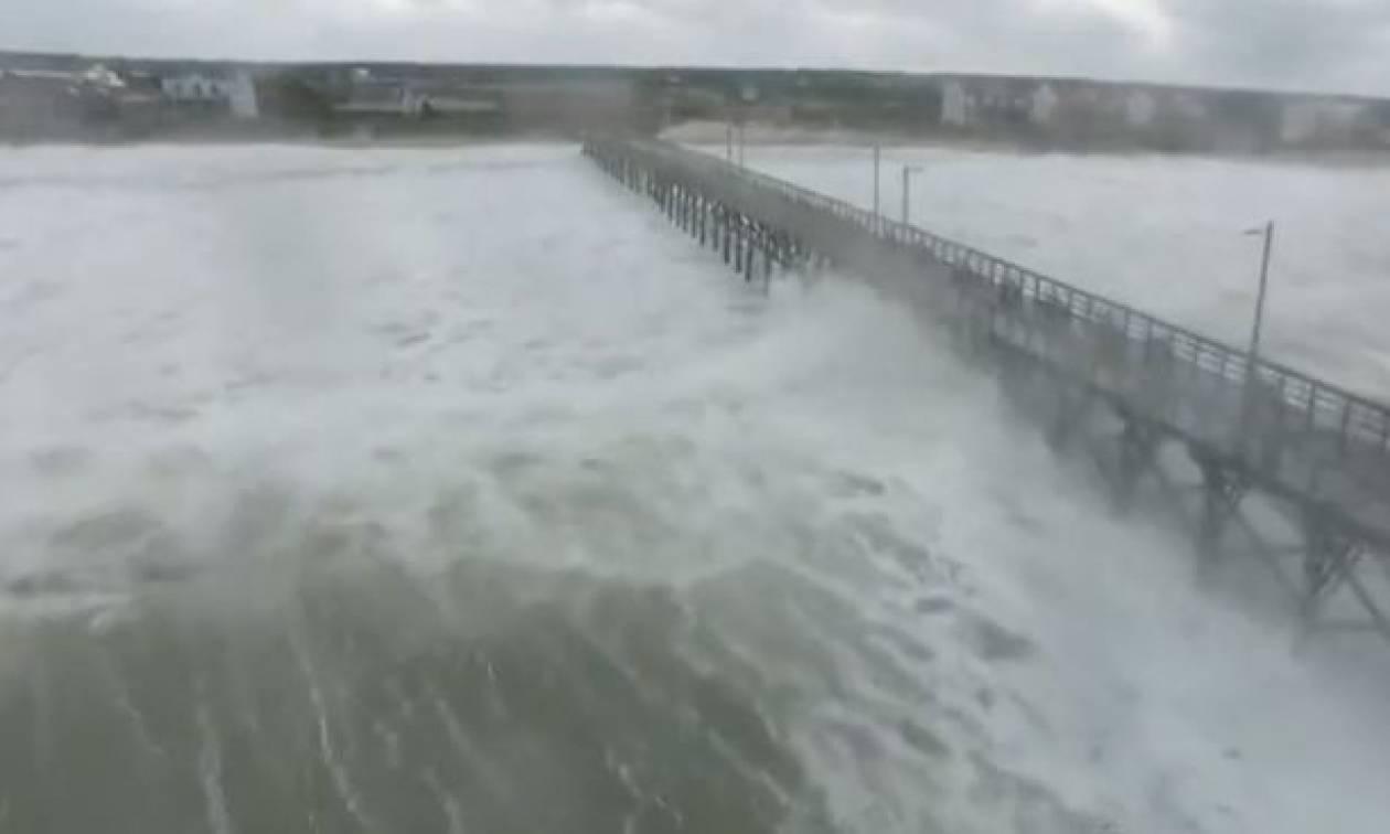 ΗΠΑ: Ο κυκλώνας Φλόρενς «σφυροκοπά» την Καρολίνα (vid)