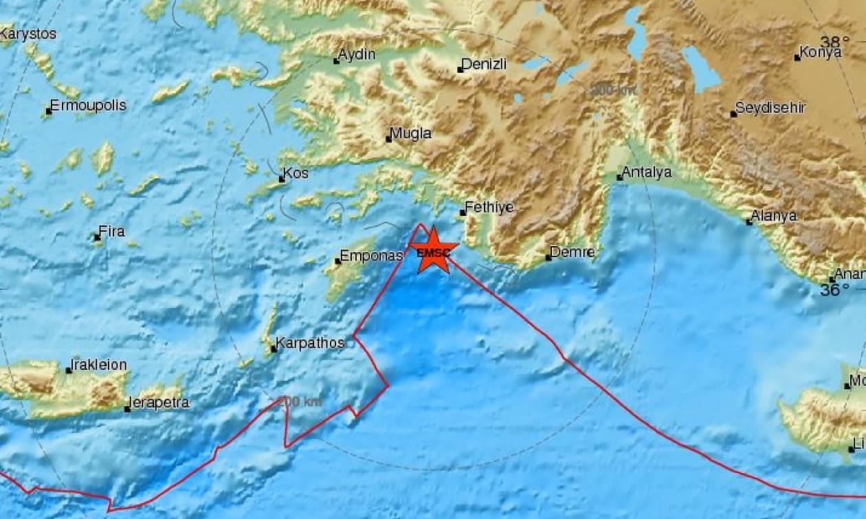Σεισμός ανατολικά της Ρόδου