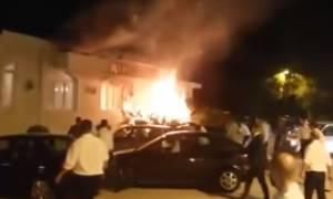 Πανικός και ουρλιαχτά σε γαμήλιο γλέντι στη Λάρισα: Φλόγες τύλιξαν κέντρο διασκέδασης (vid)
