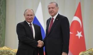 Ρωσία-Τουρκία: Σε εγκάρδια ατμόσφαιρα η συνάντηση του Πούτιν με τον Ερντογάν - Τι συμφώνησαν (Vid)