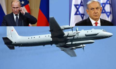 Russia blames Israel after military plane shot down off Syria