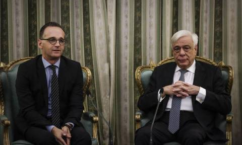 Pavlopoulos meets visiting German FM Maas in Athens
