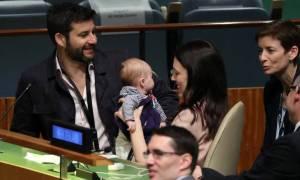 Με το μωρό της η πρωθυπουργός της Αυστραλίας στη Σύνοδο Κορυφής του ΟΗΕ