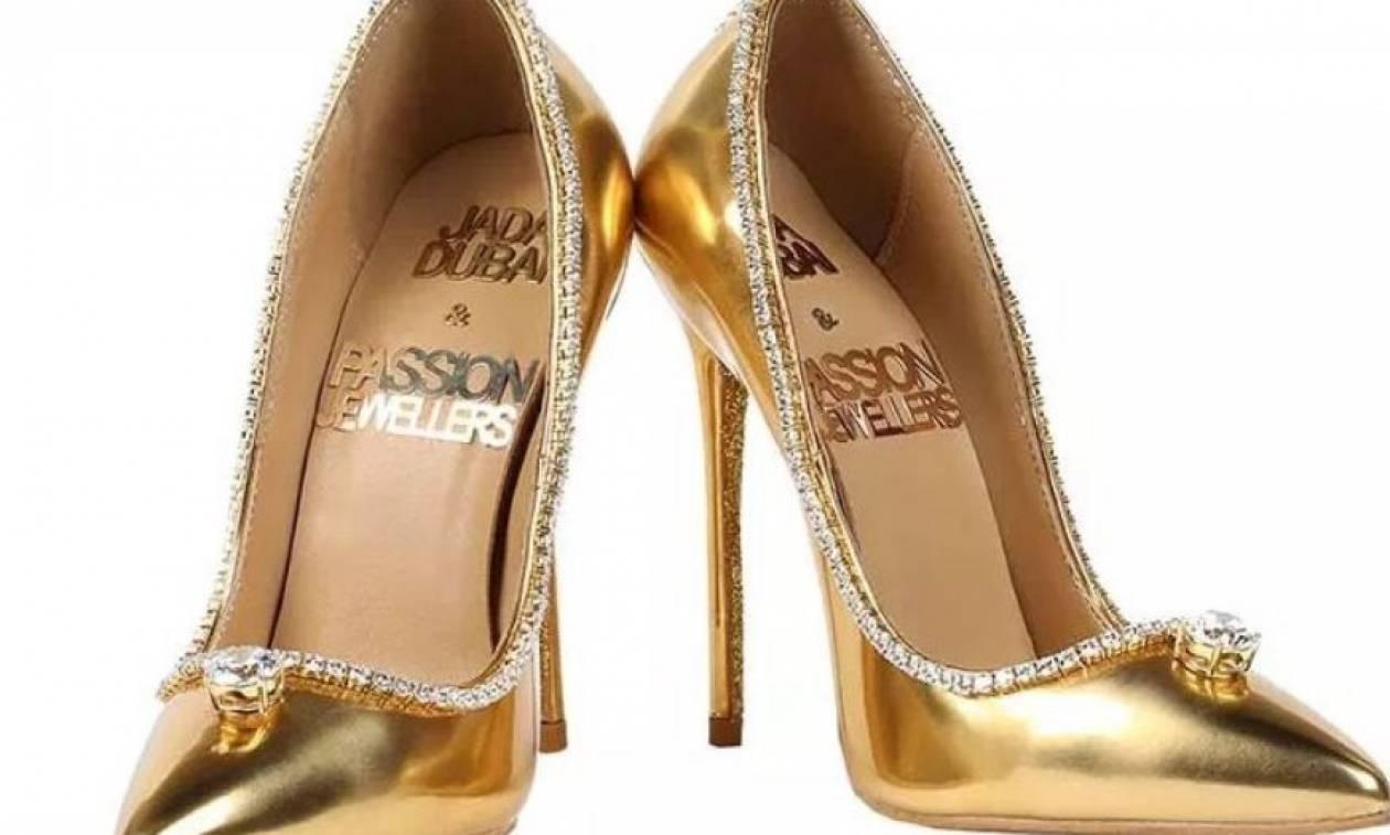 Το ακριβότερο παπούτσι στον κόσμο: Χρυσές γόβες με διαμάντια πουλήθηκαν έναντι αστρονομικού ποσού!