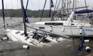 Κυκλώνας Ζορμπάς: Βύθισε 14 σκάφη στην Καλαμάτα - Δεκάδες γιοτ υπέστησαν ζημιές