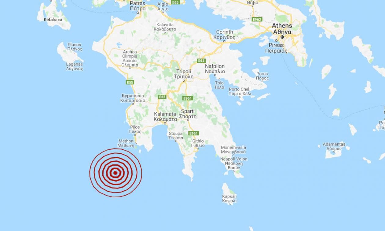 Σεισμός νοτιοδυτικά της Μεθώνης (pics)