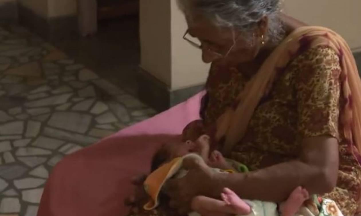 Η γυναίκα που κατάφερε να γίνει μητέρα στα… 72 της χρόνια (vid)