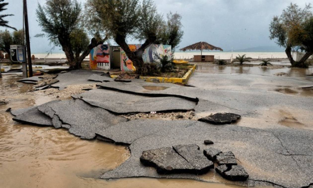 Οικονομικές ενισχύσεις στην Κορινθία για αποκατάσταση ζημιών από το πέρασμα του «Ζορμπά»