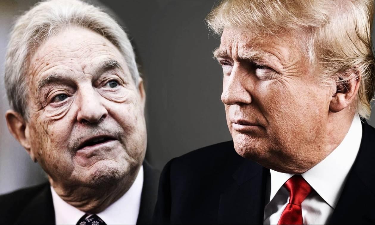 Ξεσπάθωσε ο Ντόναλντ Τραμπ κατά του Τζορτζ Σόρος (Vids)