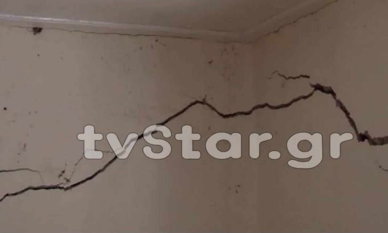 Συναγερμός και ανησυχία στην Παλαιοκατούνα από ρωγμές σε σπίτια λόγω καθίζησης (pics)