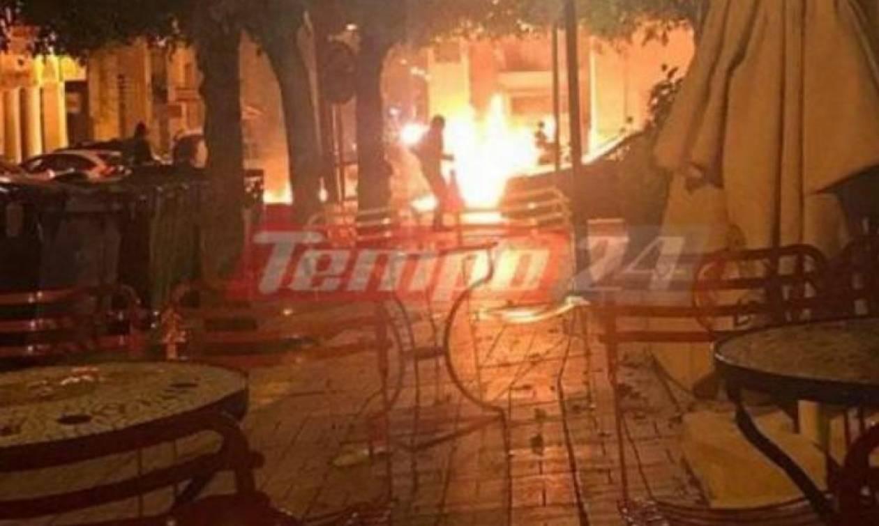 Επίθεση με μολότοφ στο Αστυνομικό Μέγαρο Πάτρας