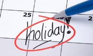 Αυτές είναι οι αργίες 2018 - 2019: Ποιες ημέρες δεν θα πάμε στη δουλειά