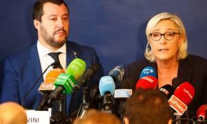 Η Λεπέν στο πλευρό του Σαλβίνι κατά της Ευρωπαϊκής Ένωσης