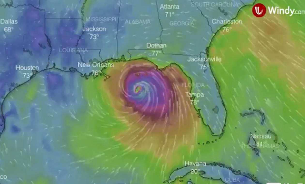 Δείτε LIVE: Ο κυκλώνας - «τέρας» πλησιάζει τη Φλόριντα - Τρέχουν να σωθούν οι κάτοικοι
