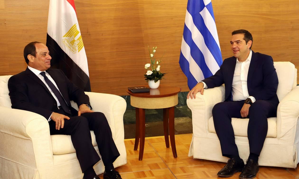 Ολοταχώς για οριοθέτηση ΑΟΖ Ελλάδα και Αίγυπτος: Τι συμφώνησαν Τσίπρας και αλ Σίσι