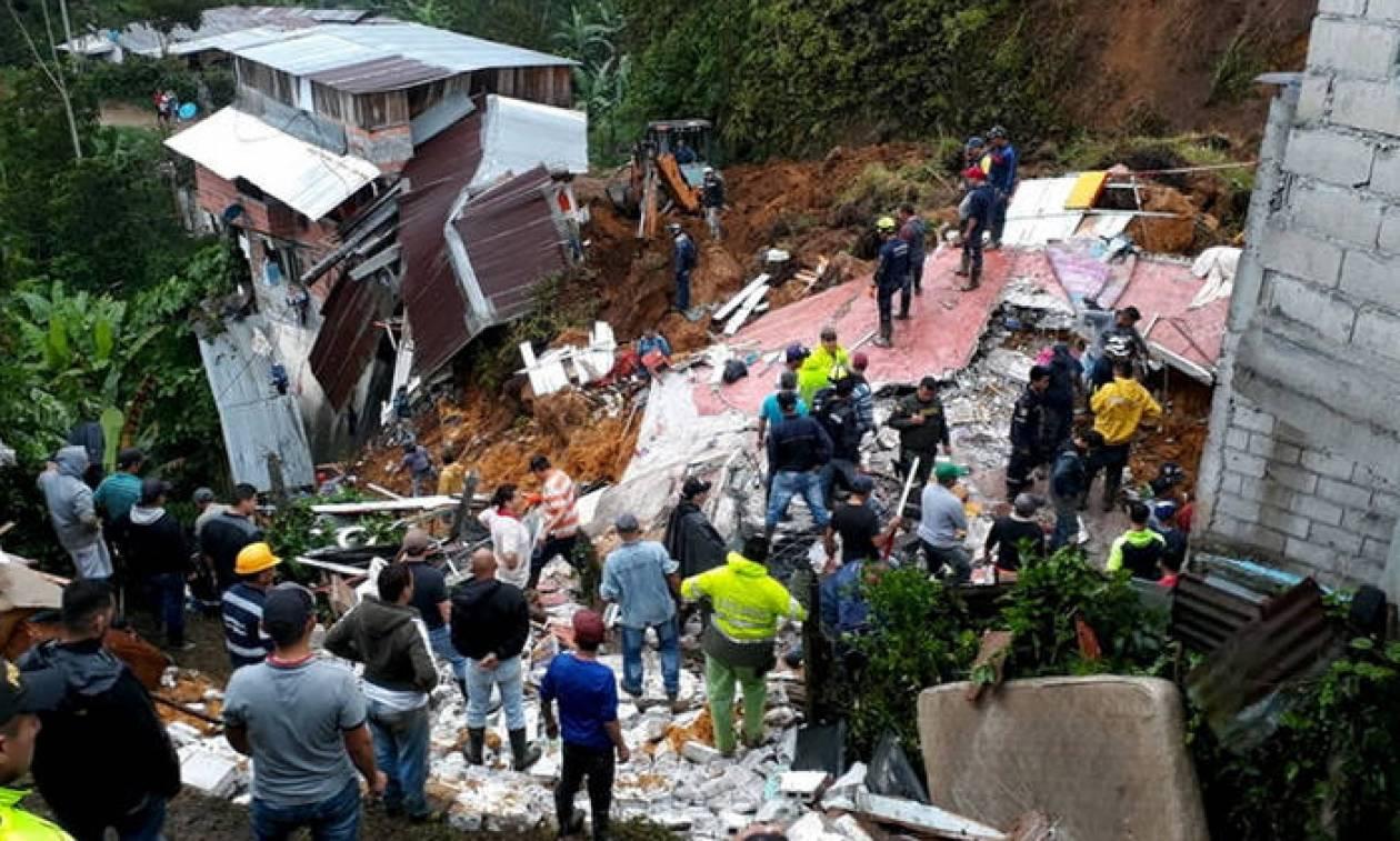 Κολομβία: Νεκροί και αγνοούμενοι από κατολίσθηση λόγω σφοδρών βροχοπτώσεων