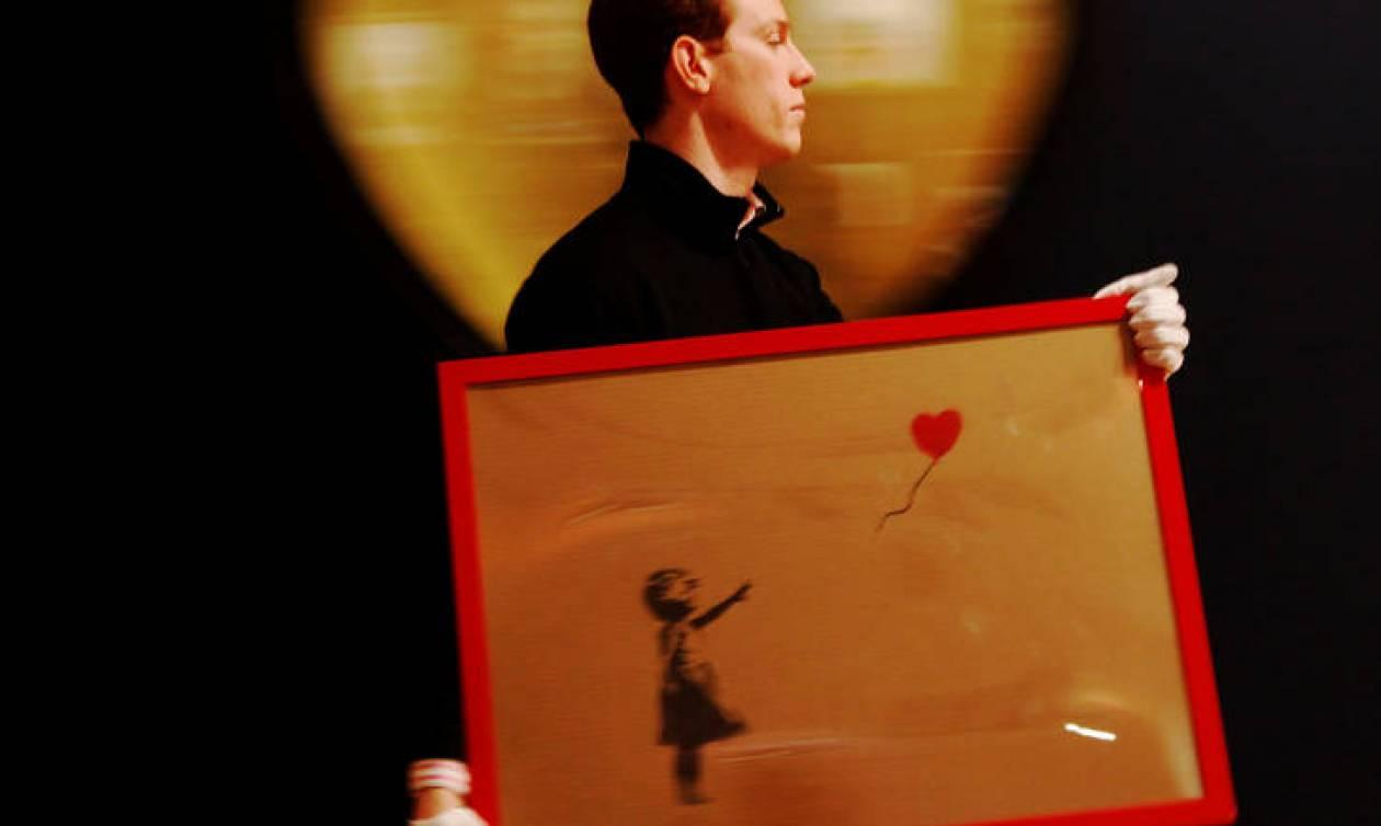 Διπλασιάστηκε η αξία του «κατεστραμμένου» Banksy - Έτοιμη να τα σκάσει η συλλέκτρια που τον αγόρασε