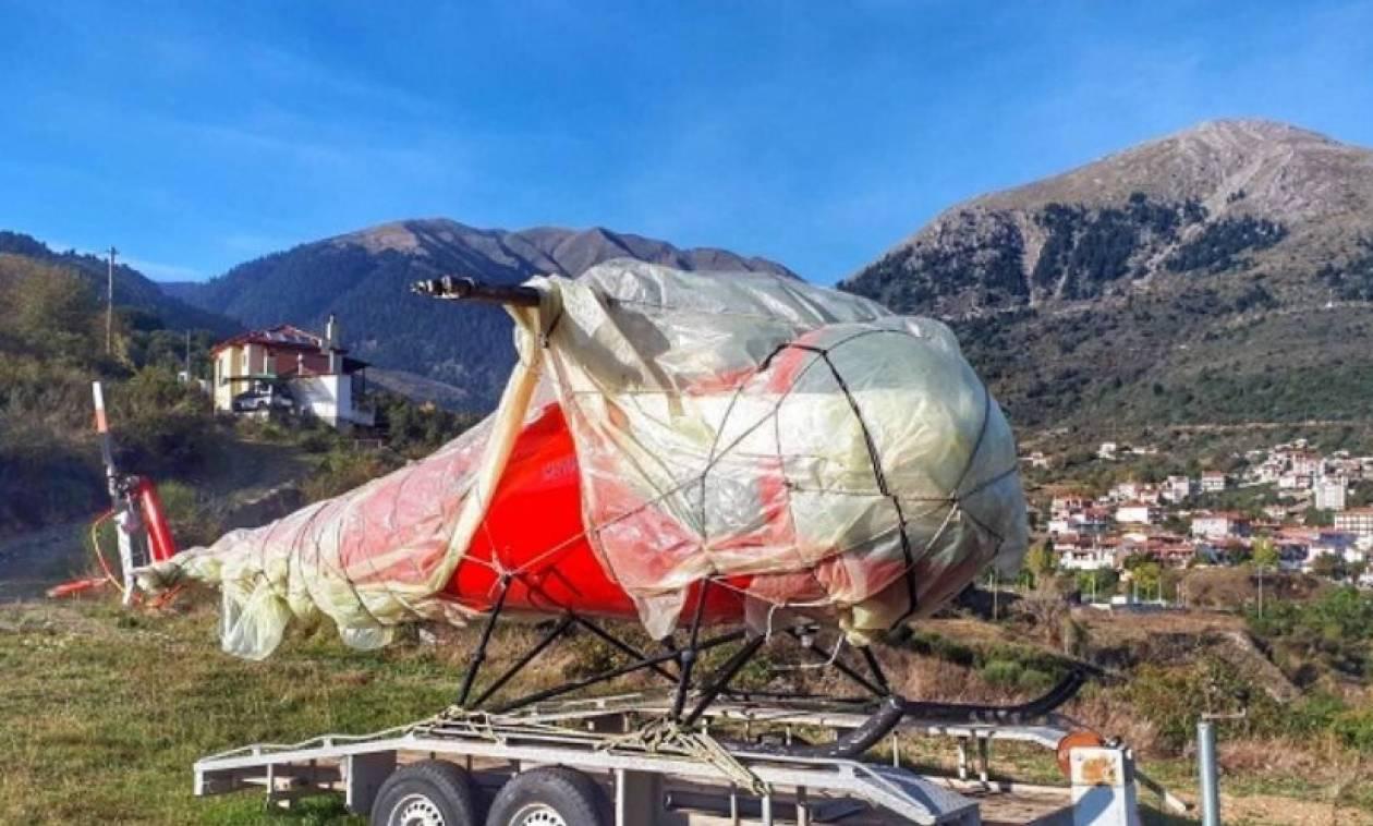 Δεν πίστευαν στα μάτια τους στο Καρπενήσι: Βρήκαν κλεμμένο… ελικόπτερο!