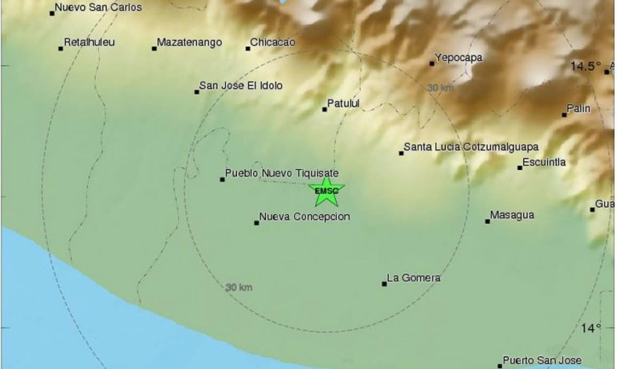 Ισχυρός σεισμός ταρακούνησε τη Γουατεμάλα