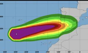Live η πορεία του κυκλώνα Λέσλι – «Σφυροκοπά» την Πορτογαλία