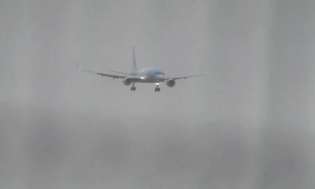 Η προσγείωση του... τρόμου (vid)