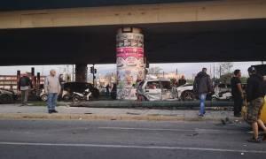 Σοβαρό τροχαίο στον Κηφισό: Νταλίκα συγκρούστηκε με 5 Ι.Χ. – 6 τραυματίες (video)