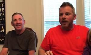 Πατέρας τριών παιδιών παθαίνει σοκ όταν η σύζυγός του ανακοινώνει πως... (video)