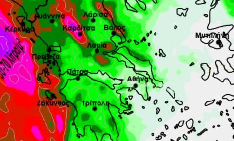 Αλλαγή δεδομένων για τις βροχές του διημέρου! Η έκτακτη ενημέρωση του Σάκη Αρναούτογλου (χάρτης)