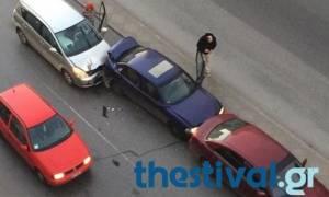 Καραμπόλα έξι οχημάτων στην εθνική οδό Θεσσαλονίκης - Μουδανιών