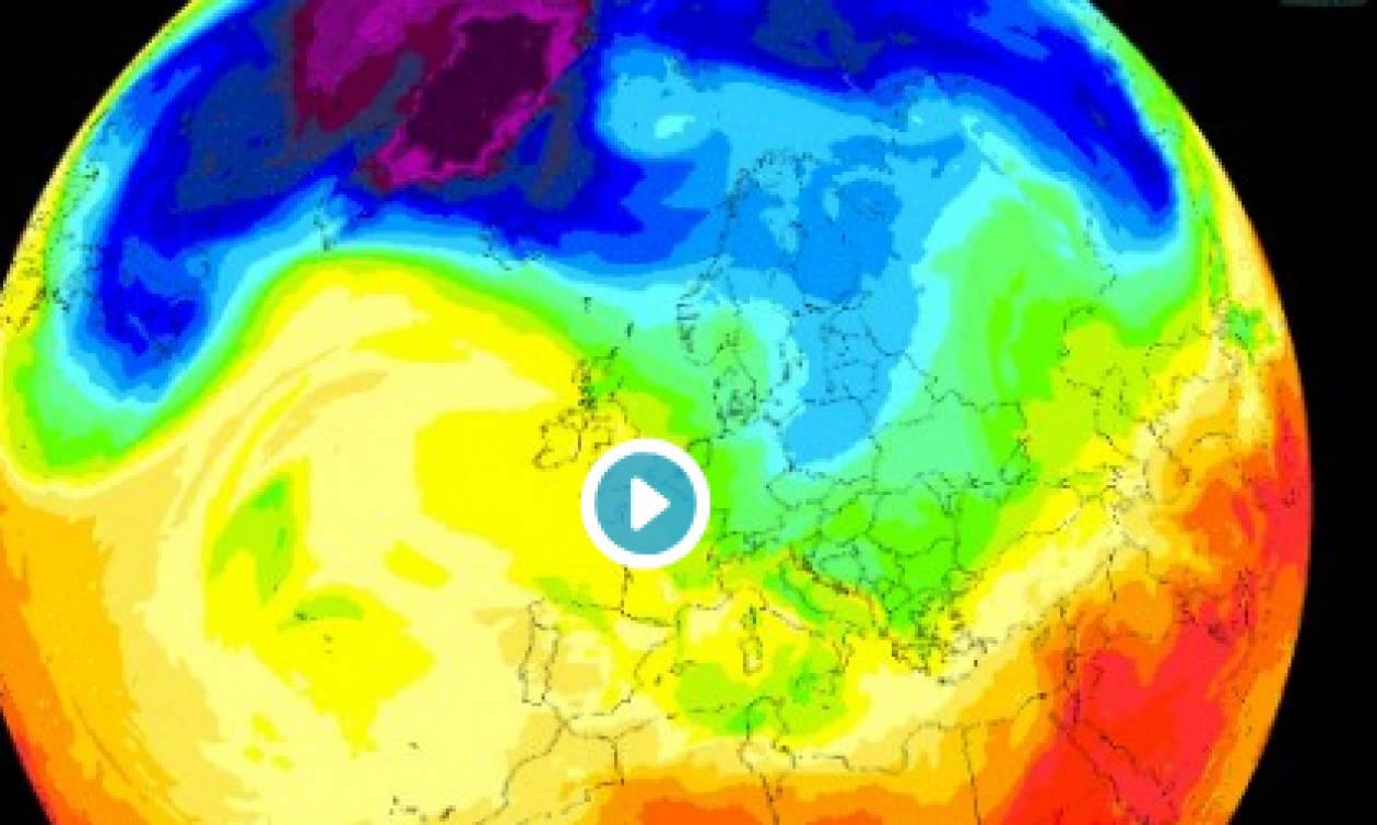 Καιρός: Ετσι... κατεβαίνει ο χειμώνας στην Ευρώπη (video)
