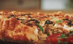 Η συνταγή της ημέρας: Τάρτα με λαχανικά και 2 τυριά