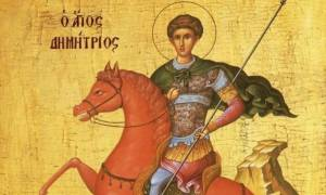 Άγιος Δημήτριος: Γιατί παρουσιάζεται καβαλάρης σε κόκκινο άλογο;