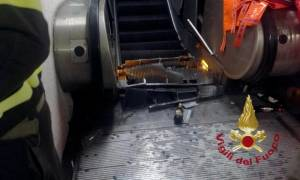 Τρομακτικό ατύχημα στο μετρό της Ρώμης με οπαδούς της ΤΣΣΚΑ Μόσχας - Ακρωτηρίασαν τραυματία (vid)