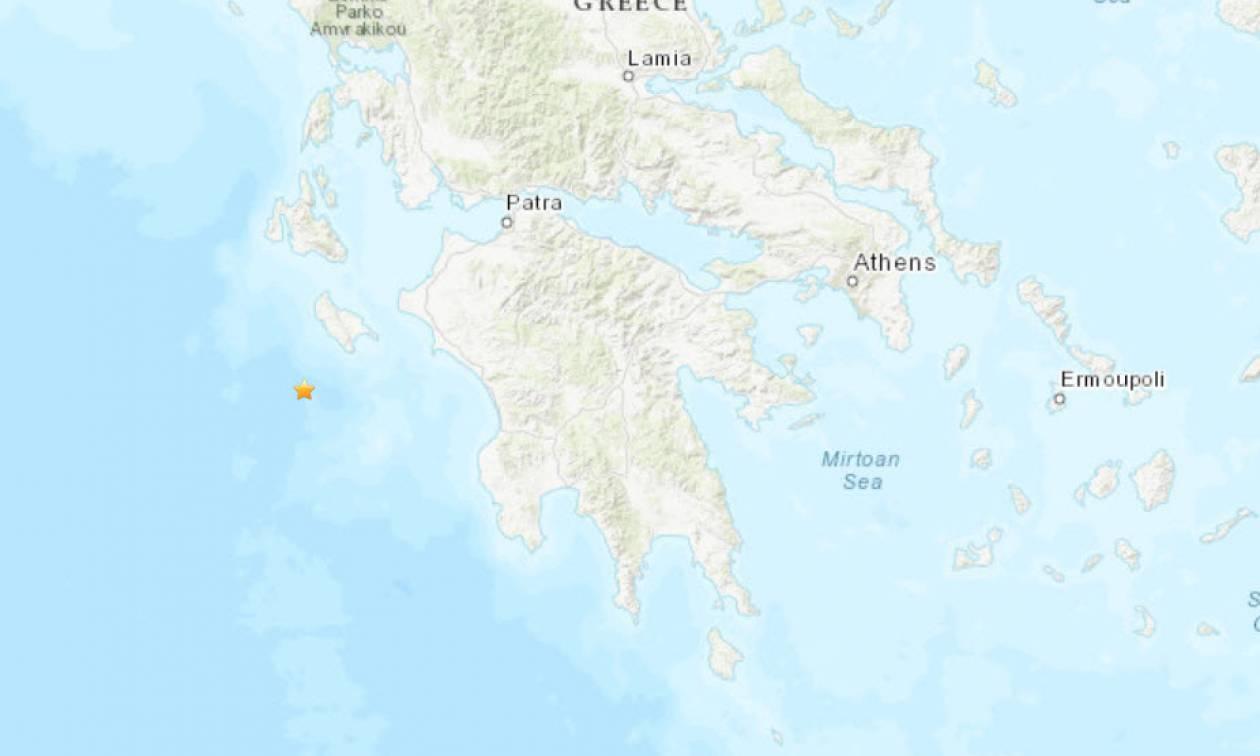 Σεισμός κοντά στη Ζάκυνθο - Μεγάλο μέγεθος δίνει το αμερικάνικο USGS