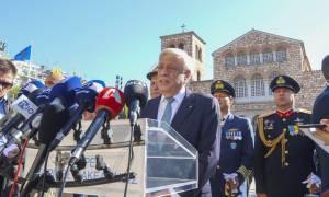 Ηχηρό μήνυμα Παυλόπουλου προς Τουρκία: Αναφαίρετο δικαίωμα η υπεράσπιση των νησιών μας