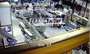 Σεισμός: Η στιγμή που ο Εγκέλαδος των 4,7 Ρίχτερ «ταρακουνά» τη Λαμία (video)