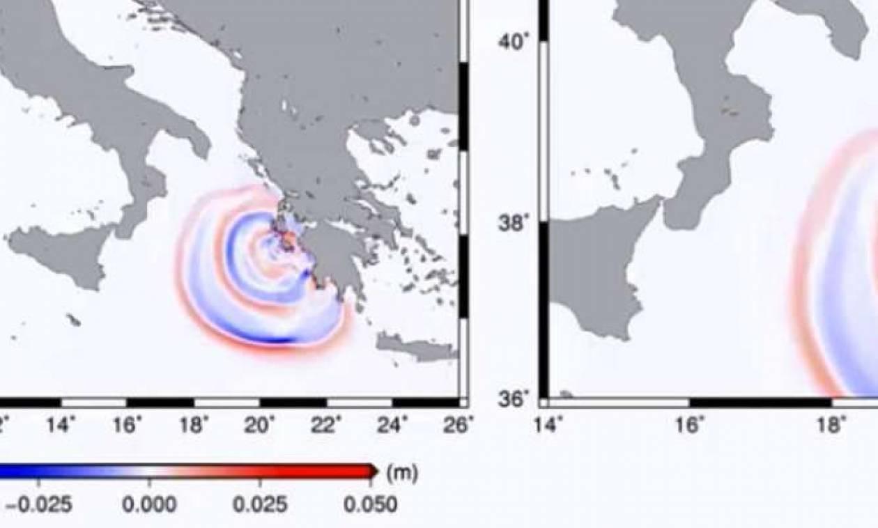 Σεισμός Ζάκυνθος: Καρέ – καρέ η πορεία του τσουνάμι μέχρι την Ιταλία