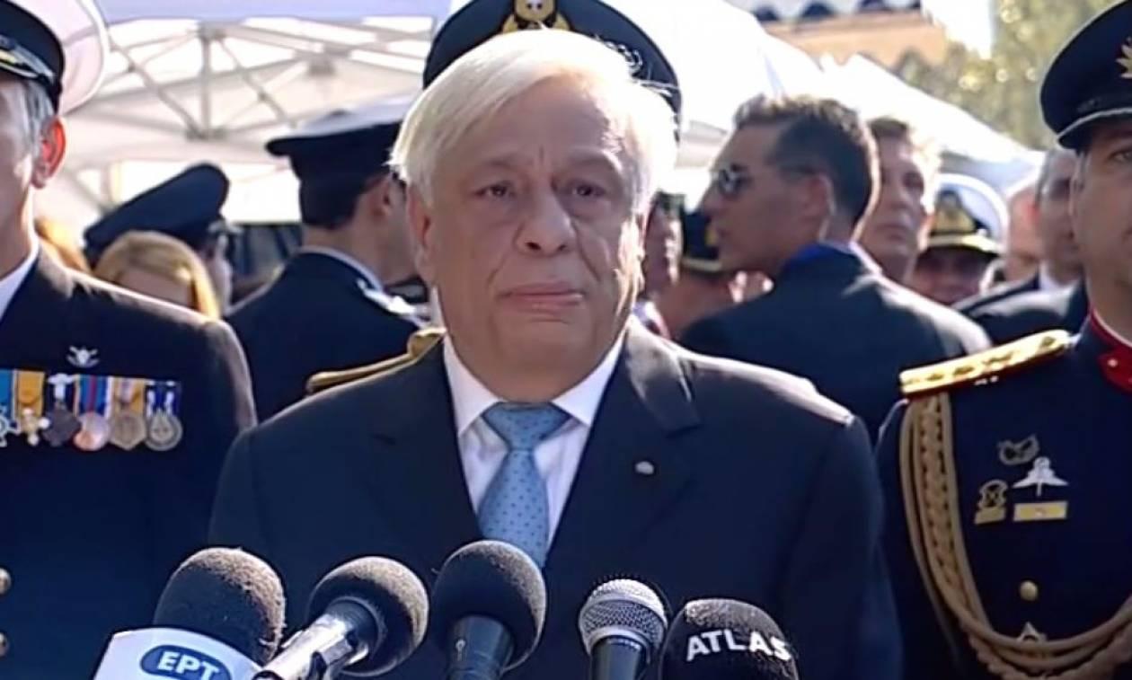 Παυλόπουλος: Το «ΟΧΙ» πρέπει να στέκεται ενάντια στα επικίνδυνα μορφώματα του ρατσιστικού λαϊκισμού