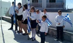 28η Οκτωβρίου: Με μόλις οκτώ μαθητές η παρέλαση στο Αγαθονήσι