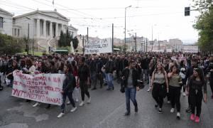 Στους δρόμους και πάλι οι μαθητές - Συγκέντρωση και πορεία στο κέντρο της Αθήνας (pics)