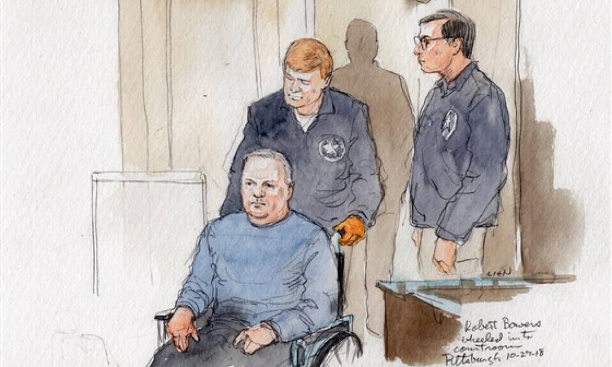 Σε αναπηρικό αμαξίδιο ο δράστης του μακελειού στη συναγωγή – Κινδυνεύει με θανατική ποινή (Vids)