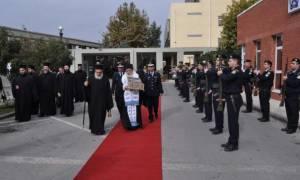 Η υποδοχή της Τιμίας Ζώνης της Θεοτόκου στο Αστυνομικό Μέγαρο Θεσσαλονίκης