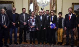 Συνάντηση Παυλόπουλου με την πρόεδρο της ΕΣΗΕΑ και τους προέδρους δημοσιογραφικών ενώσεων