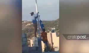 Ηράκλειο: Αυτή είναι η αλήθεια για τους «Αλβανούς» που κατέβασαν και έκλεψαν την Ελληνική σημαία
