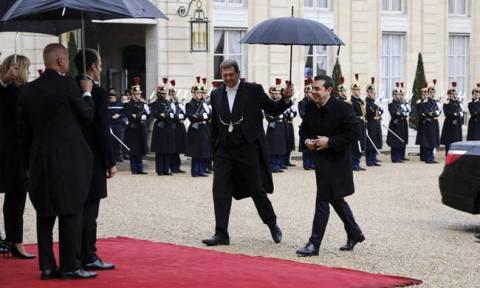 Tsipras spoke with Trump, Putin, Merkel, Erdogan in Paris