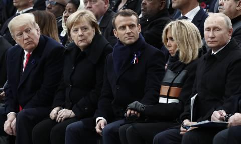 Трамп обсудил в Париже с Путиным, Макроном и Меркель ДРСМД и Сирию